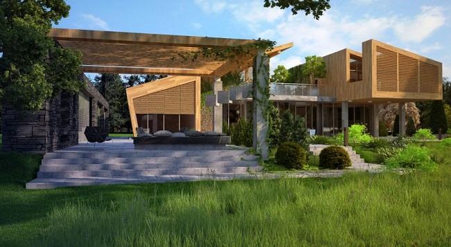 Biệt thự gỗ hiện đại