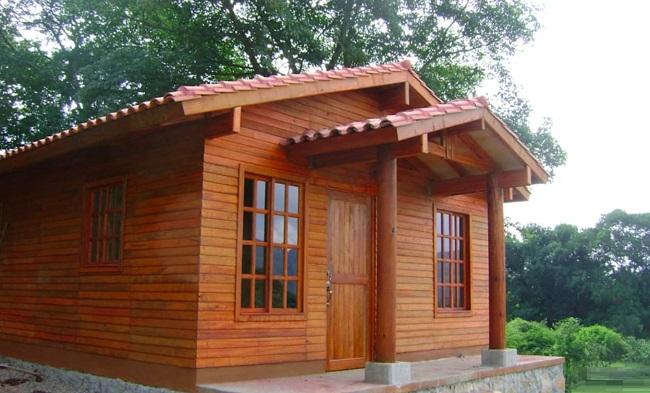 Mẫu nhà gỗ 3 gian đơn giản