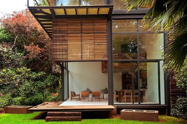 Mẫu nhà gỗ lim hiện đại