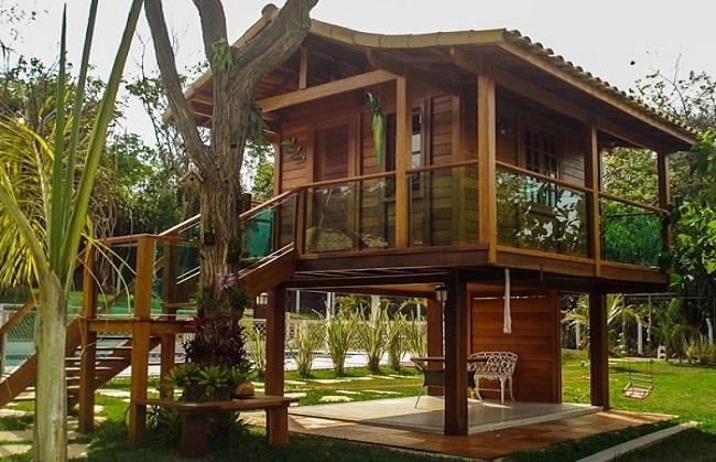 Mẫu nhà gỗ mít đơn giản