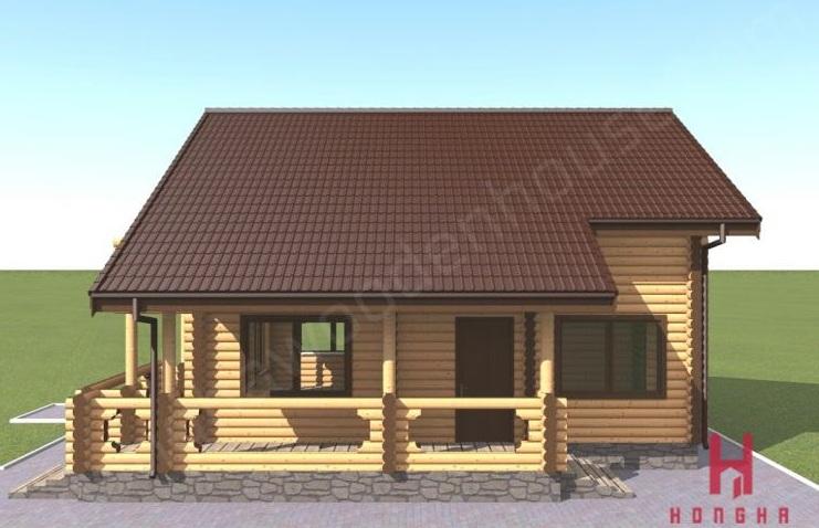 Mẫu nhà gỗ nhập khẩu đẹp