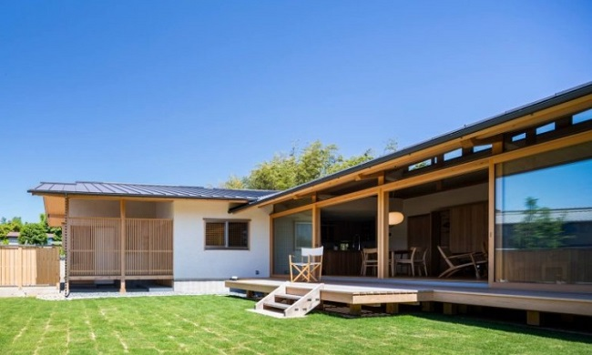 Mẫu nhà gỗ Nhật Bản sân vườn