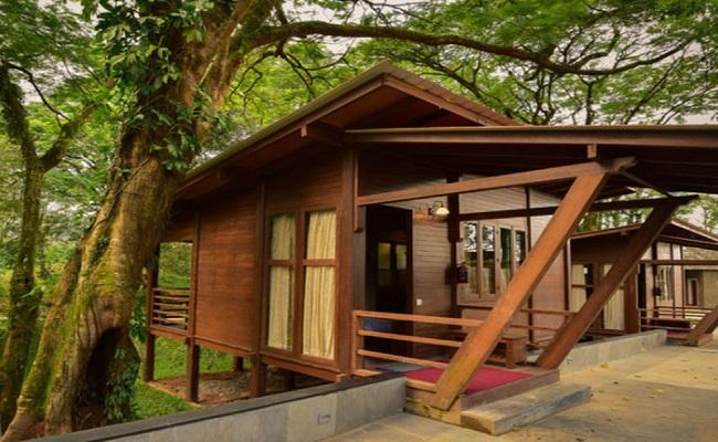 Mẫu nhà gỗ sân vườn