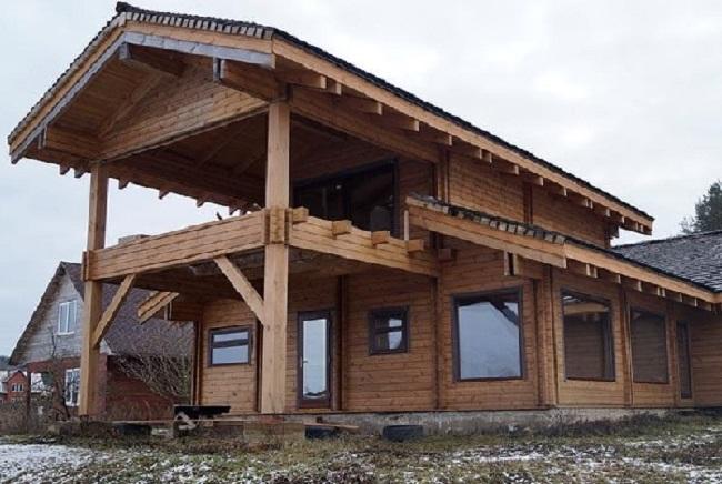 Mẫu nhà gỗ sồi trắng kiểu Nga