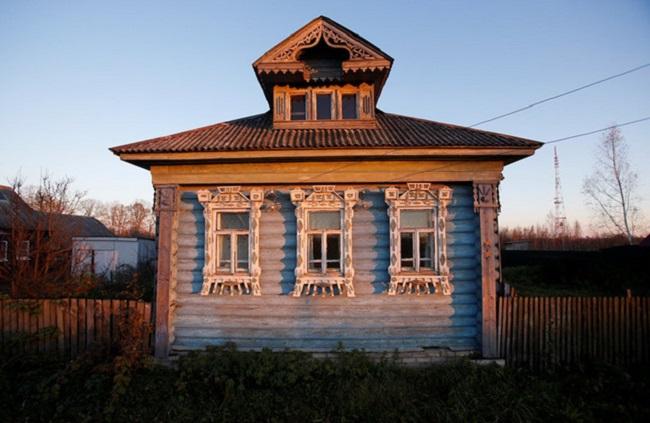Mẫu nhà gỗ sồi trắng