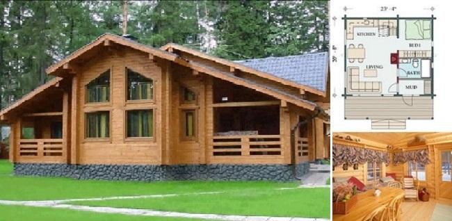 Nhà gỗ cấp 4 đẹp