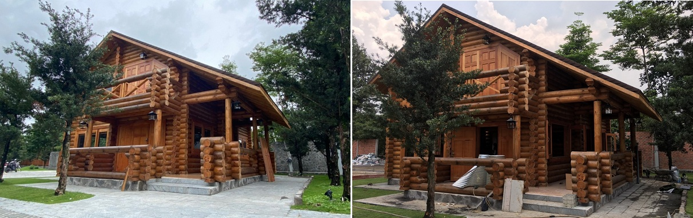 Nhà gỗ nhập khẩu đẹp