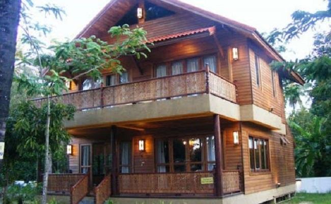 Nhà gỗ thông hai tầng