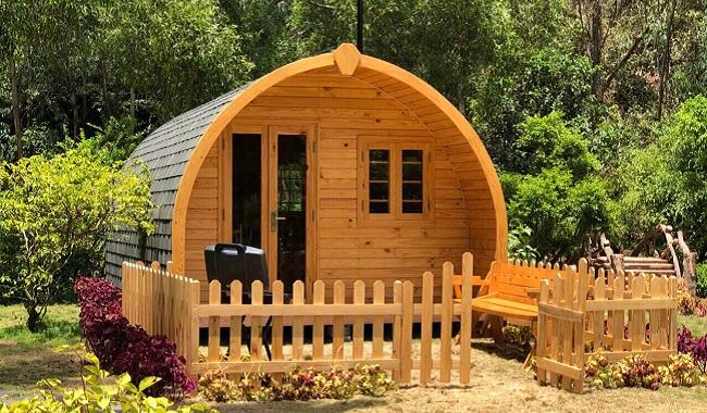 Nhà gỗ thông thiết kế thông minh