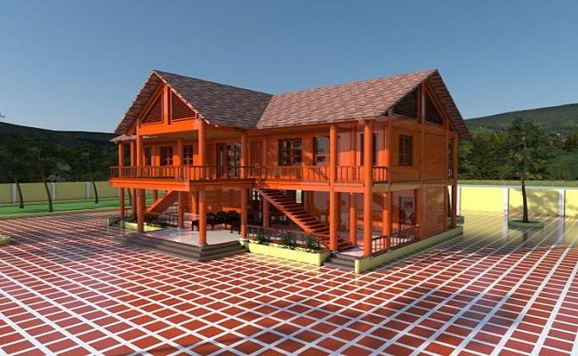 Thiết kế thi công nhà gỗ xoan