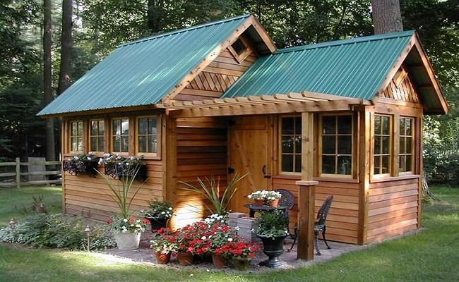 Thiết kế nhà gỗ sân vườn đẹp