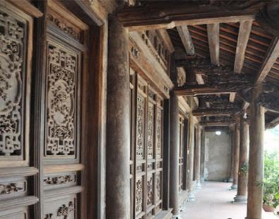 Mẫu hoa văn thường thấy ở nhà gỗ cổ