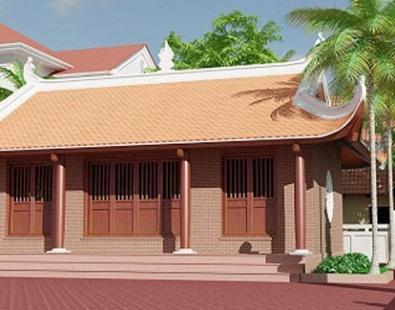 Mẫu nhà gỗ 3 gian 8 cột