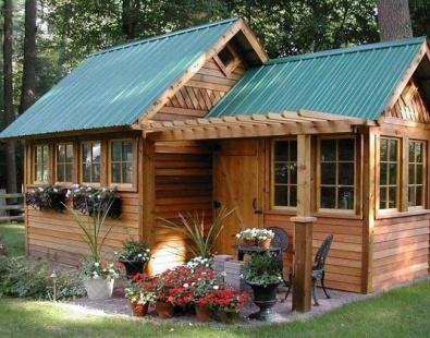 Mẫu nhà gỗ sân vườn đẹp